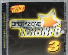 OPERAZIONE TRIONFO CD vol. 3 NUOVO sigillato NOMADI CLAUDIO BAGLIONI ANNA OXA