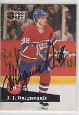 Autographed 91/92 Pro Set J.J. Daigneault - Canadiens
