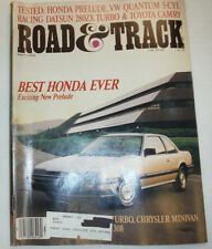 Road & Track Magazine Honda Prelude & VW Quantum May 1983 032515R