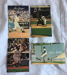 Vintage L.A. Dodgers Postcards (4) Sutton, Smith, Cey & Yeager