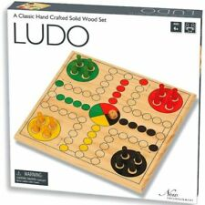 New Entertainment Solid Wood Ludo Game Set