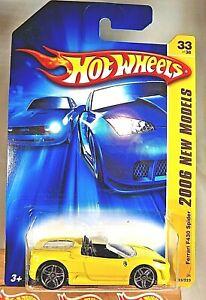 2006 Hot Wheels #33 New Models 33/38 FERRARI F430 SPIDER Yellow Variant w/Pr5 Sp