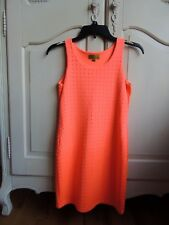 Nicole Miller orange sleeveless fitted dress XL (14)