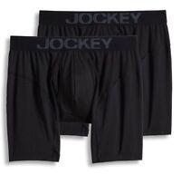 Jockey 2-Pack Black Athletic RapidCool Stretch Boxer Briefs Underwear