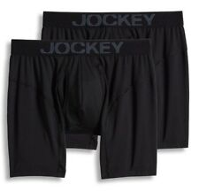 Men's Jockey 2-Pack Black Athletic RapidCool Stretch Boxer Briefs Underwear