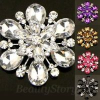 ADD'L Item FREE Shipping - Antiqued Rhinestone Flower Wedding Bouquet Brooch Pin