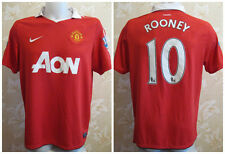 Manchester United #10 Rooney 2010/2011 Size L Home Nike AON shirt jersey maglia