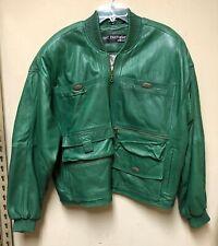 Marc Buchanan Pelle Pelle Men's Green Leather Jacket Size 40
