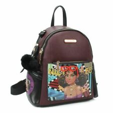 Nicole Lee Purse Handbag STYLISH BACKPACK Black Tiara Goes Dancing Large