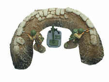 WWI or WWII CURVED GUN EMPLACEMENT 54mm CAST FOAM ATHERTON SCENICS (#9609)
