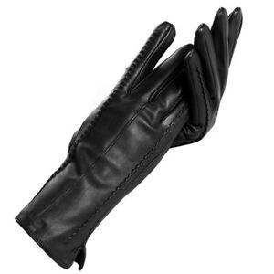 Women Microfiber Lining Genuine Leather Warm Gloves Autumn Winter Fashion Mitten