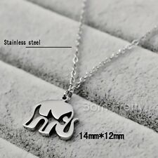1Pc Stylish Hollow Elephant Stainless Steel Necklace Pendant Gift Decoration
