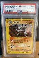 2003 Pokemon - #H27 Rhydon Holo - Skyridge GEM MT PSA 10