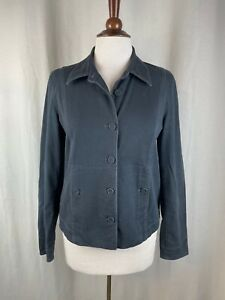 Eileen Fisher Charcoal Gray Cotton Stretch Jacket Small