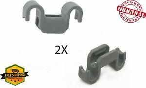 2 X New OEM 00418498 Bosch Dishwasher Rack Flip Tine Clip Genuine (SET OF 2)