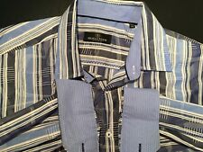 Mens Bugatchi Uomo L/S Button Front Shirt 2XL XXL Striped - Classic Fit