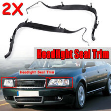 Pair Left + Right Headlight Gasket Seal Trim Set For Audi A6 C5 Allroad 2002-05