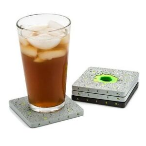 Alien Acid Drip Coaster (Set Of 4) Officially licensed - Acid Glows in the Dark!