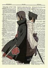 Itachi Sasuke Dictionary Art Print Poster Picture Anime Manga Naruto Uchiha