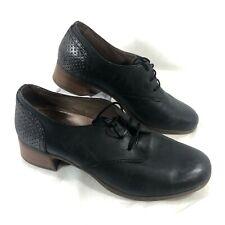 Women's Dansko Black leather Oxfords LOUISE 40 Sz 9.5 - 10