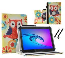 """Tablet Tasche 10.1"""" für Samsung Galaxy Tab 2 P5110 Hülle Eulen mit Blumen 360"""