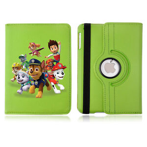 Paw Patrol 02 Rotating Case Cover Stand For Apple iPad