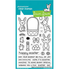 LF1884 Lawn Fawn Eggstra Amazing Easter 4x6 Clear Stamp Set