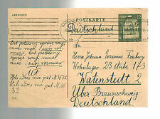 1941 Warsaw Poland Postcard Cover to Braunschweig Germany Concentration Camp KZ