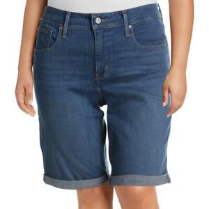 Levi's Womens Denim Shaping Casual Bermuda Shorts Plus BHFO 5667