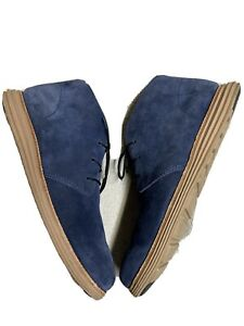 Cole Haan Lunar Grand Blue Suede Leather Casual Shoes Waterproof Size Sz 10.5 M