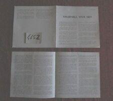 N°4652  /  VAUXHALL  VIVA : dépliant du salon de Paris d'octobre 1966