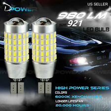 JDM ASTAR 2x 6000K White 921 T15 T10 194 168 SMD Led BackUp Reverse Light Bulbs