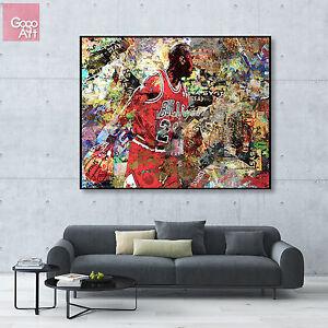 Canvas print wall art photo huge big poster decor Michael Jordan nba mvp bulls
