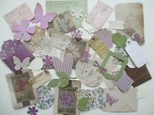 Junk Journal Scrapbook Ephemera Paper craft kit - Vintage Floral with Postcards