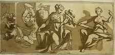 'Allégorie, corne d'abondance, Flussgott, cornucopia' CARAVAGE/Metz, aquatinte 1791