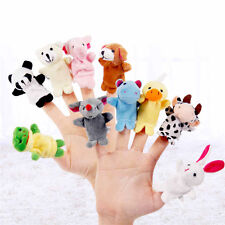 10pcs Finger Toys Cloth Plush Doll Baby Educational Hand Cartoon Animal Puppets