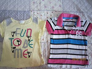 Seed & Bum Equipment Girl Round Neck/Collared Short Sleeves T-Shirts (5yo) 2pcs
