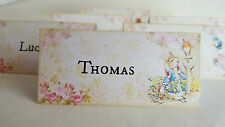 6 Beatrix Potter Peter Rabbit Personalised or Plain Table Place Name Cards