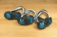 6 BBT Waterproof 12 volt Blue LED Push-In Landscape Courtesy Lights