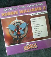 Karaoke cdg disc,SFWS003 Sunfly World Stars,Robbie William2,see Descript,16 trks