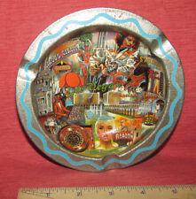 ASHTRAY Vintage LAS VEGAS Detailed Colorful Landmarks Souvenir Metal
