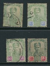 MALAYA/JOHORE, 1896 1c,2c,3,4c fine, cat £13