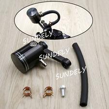 Black Motorcycle Street Bike Front Brake Tank Fluid Reservoir Master Cylinder