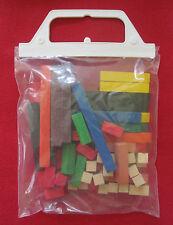 60 Houten rekenstaafjes - Bâtons en bois pour calculer - 60pcs