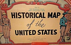 Historical Wall Maps School Set USA World Census 6 Maps The Reference House, MA