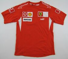 Ferrari Puma F1 Formula 1 racing team cotton red T-shirt shirt crew neck M