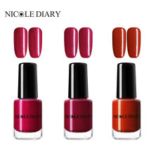 NICOLE DIARY 6ml 3Bottles Peel Off Nail Polish Shimmer Water Based Red Varnish