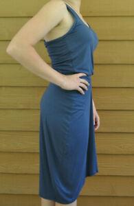 Athleta Womens Racer Tank Dress Blue Size Medium Micromodal Spandex Stretch