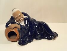 Antique Chinese Mudman Figure Drunken Master Statue SIGNED