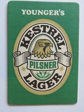 Beer Breweriana Coaster: William Younger's Kestrel Pilsner ~ Edinburgh, SCOTLAND